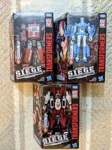 3x Set Transformers War for Cybertron Siege Ironhide Chromia Sixgun Deluxe MISB