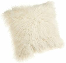 18-Inch Faux Fur Throw Pillow Natural Brentwood