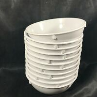 Set of 11 CARLISLE DALLAS WARE Melamine White Dessert Bowls