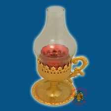 Orthodox Standing Vigil Lamp Glas Lid & FREE Wicks Orthodoxe Ikonenampel Kandilo
