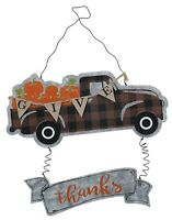 Fall GiveThanks Pick-Up Truck Hanging Door Décor for Fall Harvest Celebration