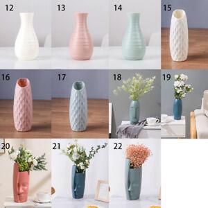 Nordic Creative Flower Pot Plastic Vase Home Imitation Ceramic Decoration uk