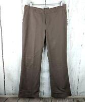 Womens BANANA REPUBLIC Khaki Pants 12 Brown Chinos Cotton Stretch Straight Boot