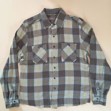 Urban Outfitters Men's Standard Cloth Blue Paid Long Sleeve Flannel Shirt Size L