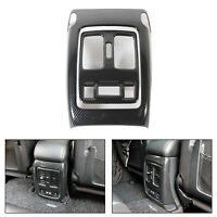 Carbon Fiber Look Rear Air Vent Outlet Cover Trim Fits Grand Cherokee 2011-2018