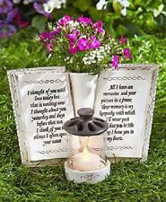 """Garden Memorial Rock Memorial Vase Book Candle Holder Cemetery Grave Decor 6.2"""""""