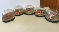 Vtg Snow Dome Globe Tumbling Santas Set of 5 Snowdome Snowglobe
