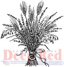 Deep Red Stamps Wheat Grass Rubber Cling Stamp