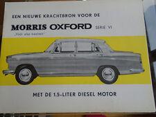 Morris Oxford Series VI brochure c1966 Dutch text ref O 3166