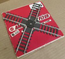 "American Flyer Gilbert ""Pike Master"" 26322 90 Degree Crossover S-Gauge"