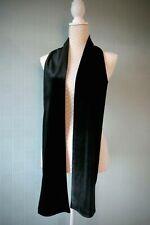 Black velvet scarf luxury gift velour stole long unisex accessories