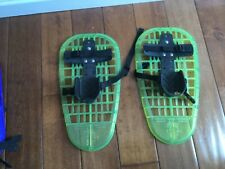 """New listing L.L. Bean 16"""" Youth SNOWSHOES - LITTLE BEAR GRIZZLY Up to 9"""" Shoe/Age 5-12 Green"""