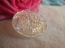 ancien bouton en verre MORDORé travaillé effet perlé  2,6 cm G10C