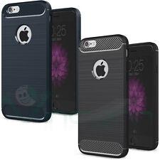 """Pellicola+Custodia Rugged Armor Carbon Design per iPhone 6 6S 4.7"""" cover case"""