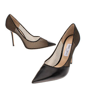 RRP €640 JIMMY CHOO Court Shoes EU 43 UK 10 US 13 Contrast Leather Made in Italy
