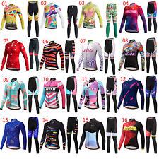 2021 Miloto Women's Long Sleeve Bike Jersey and Padded Cycling Pants Tights Kit