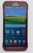 Samsung Galaxy S5 Active SM-G870A 16GB Red UNLOCKED GSM AT&T TMOBILE METRO PCS