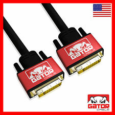 DVI-D to DVI-D Cable Dual Link 24+1 Male Video Cable Adapter Gold Plated 6FT