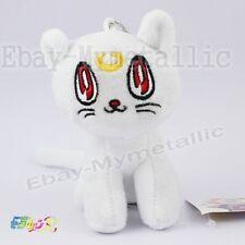 "Sailor Moon Minako White Guardian Cat Artemis 10cm / 4"" Soft Plush Doll Size S"