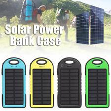 Dual USB LED linterna Power bank case Banco Energía solar cargador batería Caja
