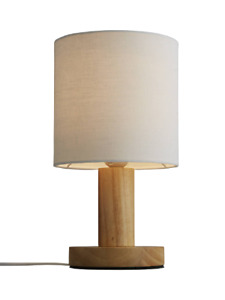 John Lewis & Partners Slater Wood Touch Table Lamp *Missing Lamp Shade*