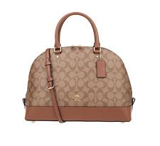 Coach Sierra Signature Brown/Saddle Satchel Crossbody Bag Handbag F58287 Purse