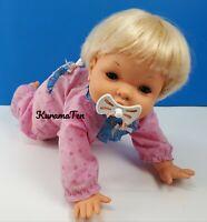 "Vintage Oopsie Daisy Crawling Talking Baby Girl Doll Blue Eyes 1988 by Irwin 16"""