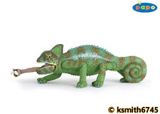 Papo CHAMELEON WITH BEE solid plastic toy wild zoo animal reptile LIZARD NEW 💥