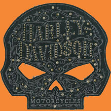 HARLEY DAVIDSON Studded Ornate Willie G Skull Large Patch 8 INCH HARLEY PATCH