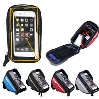 RockBros Waterproof Bicycle Front Tube Frame Pannier Bag for Touch Screen Phone