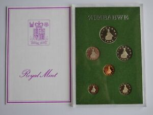 1980 Zimbabwe Proof Set 6 Coin Collection