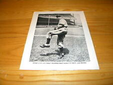 Alvis Tex Shirley St. Louis Brown 1946 Baseball Magazine Inside Cover Pinup