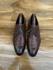 Russell & Bromley mens Brown Leather Shoes Size 9U.K.