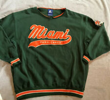 STARTER XL Green MIAMI HURRICANES University  Sweatshirt
