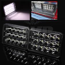 "2PC 4""x6"" H4651/H4652/H4656/H4666 45W Epistar LED Black Sealed Beam Headlights"