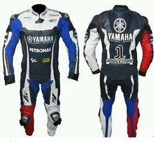 YAMAHA Motorcycle Leather Suit Riding Suit Motorfiets leerpak Racing Suit 1pc 2p