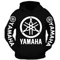 White Yamaha Racing Black Long Sleeve TEE YZF R1 R6 YFZ Banshee Hoodie