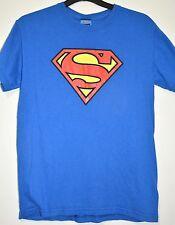 Para hombres Camiseta De Superman Dc Comics Azul Algodón Camiseta Tamaño S Camisa héroe Unisex