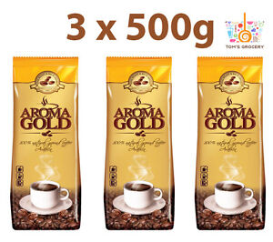3 x AROMA GOLD Rich Aroma Premium Natural Ground Coffee 100% Arabica 500G