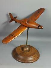 Ancienne maquette avion bois  sur socle. Vintage années 1940-1950. Bel état