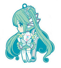 Vocaloid Miku Head Turned GT Project Rubber Phone Strap
