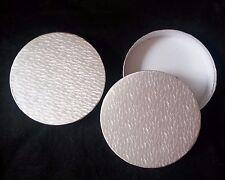 Lot de 6 grands Argent Rond Water Mark Boîtes-Cadeaux - 16 cm (6.25 Pouces)