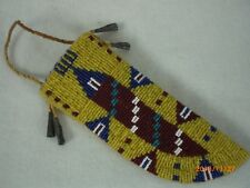 Beaded Native American Knife Sheath, Old Style; Indian Made               bks2bj