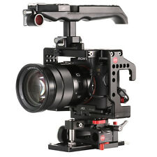JTZ DP30 Camera Cage Baseplate Handle Rig Kit For Sony Alpha A9 A7III 15mm Rod