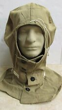 WW2 US Army Protective Hood used with Gas Mask Cotton Poplin Khaki Unissued