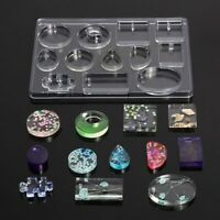 12 Silicone Pendant Mold Making Jewelry For Resin Necklace Mould Craft DIY Tool