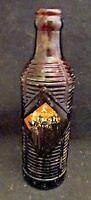 Orange Crush Amber Glass 7 oz. Soda Bottle Reed Glass 1945