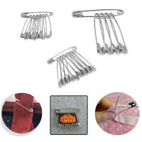 25pcs Silver Stainless Steel Safety Pins Assorted Size for Wedding Dresses Craft