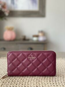Kate Spade New York natalia large continental wallet blackberry / Gold