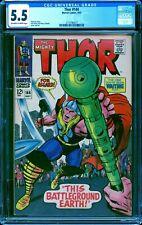 Thor 144 CGC 5.5 -- 1967 -- Kirby art.  Classic Thor cover #2115796017